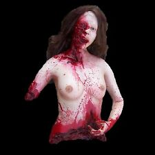 Mutilated Female Torso - Haunted Halloween Prop - The Walking Dead Decoration