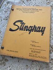 STINGRAY (Corvette Summer) / 1977 Screenplay, Drama