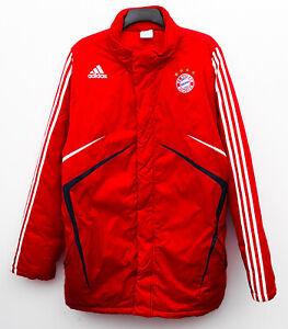 C12 FC Munchen Bayern Winter Jacke Herren Gr XL rot Adidas mantel sport puffer