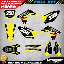 Full Custom Graphic Kit Suzuki RMZ 250 2001 - 2019 MAX STYLE decals stickers