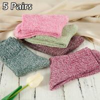 5paires femme laine cachemire chaussette épaisse hiver casual chaussettes PS