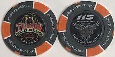 Tucson Harley Davidson® 115 Year Anniversary Collector Poker Chip Black/Orange