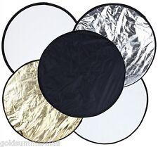 61cm 5 en 1 ronde pliante Multi-disc photographie éclairage Réflecteur 5 colors