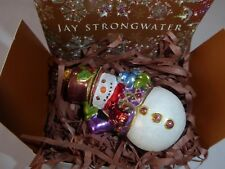 Jay Strongwater Little Snowman Ornament Swarovski Crystals New in Box