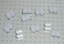 Lego-Brique Modified 1 x 2 log, lumière bleutée Gris x 10 (30136) bm69
