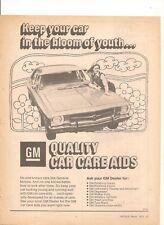 ORIGINAL VINTAGE 1973 HQ HOLDEN NASCO GM CAR CARE AIDS AUSTRALIAN ADVERT