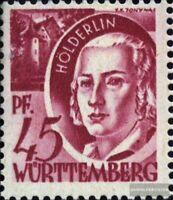 Franz. Zone-Württemberg 9I, 5 und R verbunden (Feld 79) postfrisch 1947 Freimark