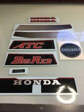 Honda Big Red ATC Tank/Fender Decal Sticker Set 1982 82 200 200E