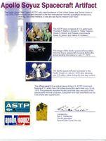 Very Striking Certificate With A Genuine, Flown Piece of Apollo-Soyuz Kapton