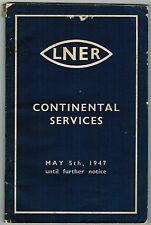 LNER Collectable Railway Public Timetables