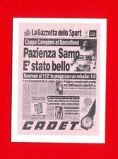 SUPERALBUM Gazzetta - Figurina-Sticker n. 163 - PAZIENZA SAMP - GAZZETTA -New