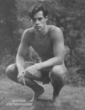 1987 Vintage BRUCE WEBER matted14X11 Photo Gravure OUTDOOR Male Nude BILLY Art