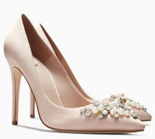 Next Blush Embellished Heeled Pointed Court Shoes UK 6 EU 39 LG08 18