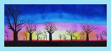 "Print tree boab landscape australia painting canvas sunrise  art 47"" x 20"""