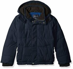 Nautica Toddler Boys' Signature Bubble Jacket With Storm Cuffs MSRP $100.00