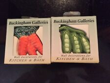 Buckingham Galleries Wall Decorations Carrots and Pea pods ceramic TILE Kitchen