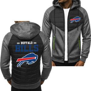 Buffalo Bills Fans Hoodie Sporty Jacket Zip up Coat Autumn Sweater Tops