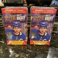 2020-21 UPPER DECK HOCKEY SERIES 2 FACTORY SEALED BLASTER BOX (2) BOX LOT