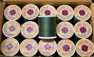 Americana Quilting Thread 540 Churchill Green 150 yds- Pack of 30 Spools