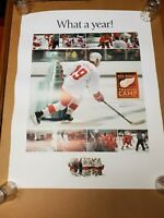 """Detroit Red Wings HOCKEYTOWN 1997 Vintage Poster """"What a year"""" 17 x 20"""