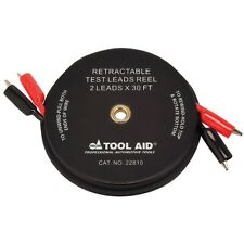 SG Tool Aid 22810 Retractable Test Leads Reel - 2 Leads x 30