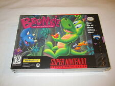 Bronkie the Bronchiasaurus (Super Nintendo SNES) Brand New, Factory Sealed Mint!