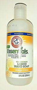 Essentials Liquid Orange Citrus Hand Soap 8oz Vegan Aloe Vera