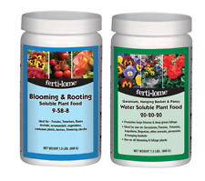 Fertilome Blooming Plant Fertilizer 1.5 lb 9-58-8 + Geranium Food 1.5 20-20-20