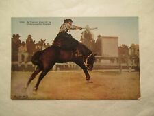 Cowgirl Rodea Western Championship Contest Horse Postcard