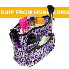 Small Organizer Reversible Pouch Travel Insert Handbag Purse Cosmetic Makeup Bag