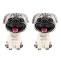 Bobble Head Dog Car Dashboard Home Decor Gift Doll Bobbing Pug Toys