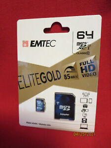 EMTEC 64GB Micro SD Card 85MB/s Class 10 BRAND NEW FACTORY SEALED