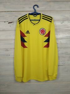 Colombia Jersey 2018 2019 Long Sleeve Shirt S Adidas Football Soccer BR3511