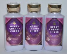3 Bath & Body Works Merry Cherry Cheer Body Lotion Hand Cream Shea Vitamin E 8Oz