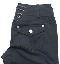 New Julien Macdonald Black Denim Trousers Size 10 UK
