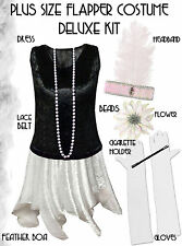 Roaring 20's PLUS SIZE Flapper Dress Halloween Costume XL to 9x