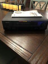 Sharp 4-Head Vcr Vc-A593U Hi-Fi Hq Vhs Player/Recorder Rapid Rewind