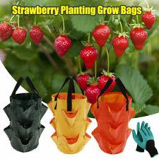 2X Reusable Plant Grow Bag Potato Strawberry Planter Bag Garden Supplies+Gloves