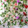 Hanging Artificial Fake Rose Flower Ivy Vine Garland Wedding Home DIY ecor~