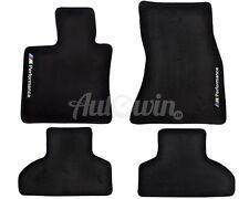 BMW X6M Series F86 Black Floor Mats With /// M Performance Emblem LHD