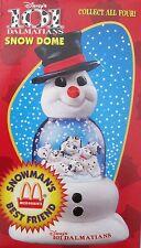 1996 McDonalds Snowman's Best Friend Snow Dome Disney 101 Dalmatians Mint in Box