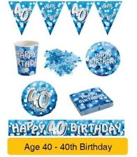 Tutto blu Amscan compleanno adulto per la tavola per feste e party