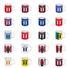 New Personalised Football Team Any Name Any Number Colours Birthday Gift Mug Cup