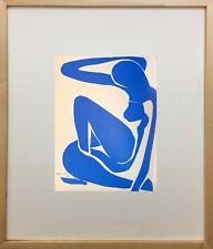 """Nus Bleus I"" by Henri Matisse (Framed Fine Art Blue Nude Figures Modern)"
