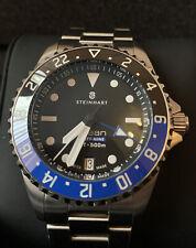 STEINHART Ocean 39 GMT Premium 500 Swiss ETA 2893-2 Batman Bezel