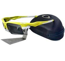 Oakley Custom FAST JACKET XL Lemon Peel Frame Slate Iridium Lens Mens Sunglasses