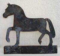 girouette en fer forgé riveté 19ème - au cheval