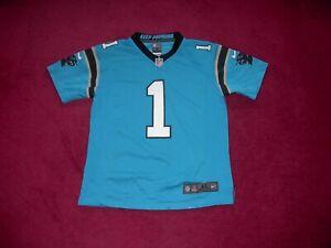 Nike Carolina Panthers American Football Shirt/Top/1 Newton/Medium Boys/10-12