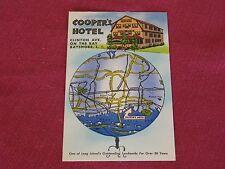 Vintage Cooper's Hotel Bayshore, NY Postcard Clinton Ave. #E11671 NOS EXC