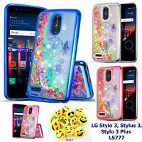 for LG STYLO 3/STYLUS 3 LS777 Liquid Glitter Flowing Sparkle Shockproof TPU Case